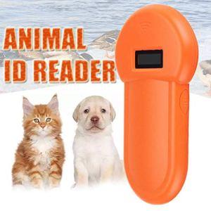 Dastrues Scanner portatif d'oreille de reconnaissance d'oreille d'identification de Microchip d'animal familier d'affichage à cristaux liquides de lecteur RFID de lecteur d'identification de 134.2Khz