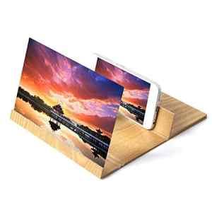 lennonsi Titulaire De Téléphone Portable Loupe Écran 3D HD TV Amplificateur Vidéo Portable Pliant Agrandir Stand, 12in 4~6 Fois Élargissant L'effet