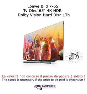 'Loewe Bild 7.65TV OLED 654K Ultra HD HDR Dolby Vision Disque Dur 1TB