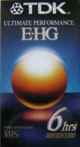 TDK Performance ultime E-HG Extra de haute qualité VHS T-120cassette vierge