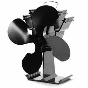 Kenley Ventilateur pour foyer de poêles à bois, fonctionnement sans électricité, 4 Flügel