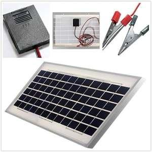 PhilMat 12V 10W 330 x 300 x 20mm polycristallin solaire avec câble de 2m