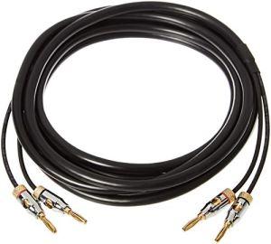 AmazonBasics Câble de hauts-parleurs avec fiches bananes plaquées or–CL2–99,9% sans oxygène–3,6 m