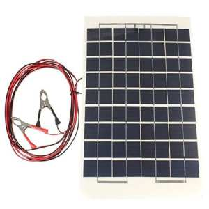 Calli 12v 10w 38 x 22 cm polycristalline transparente panneau solaire de résine époxy avec du fil de pince crocodile