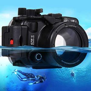Easy Go Shopping Etui de caméra étanche pour plongée sous-Marine de 40m de Profondeur pour Canon G7 X Mark II Accessoires