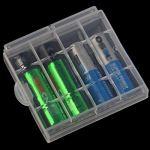LAAT Boîte de batterie de Rangement pour 4 Piles Alkaline Batteries AA ou AAA Beau Facile et Bien Rangé Safe 5 pcs.