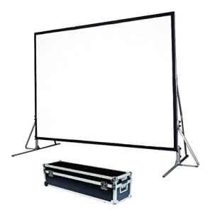 Schermo proiezione Quick-Folder ultraleggero con cornice rinforzata ripiegabile, tela soft-white + tela retro 554x311cm 250 16:9