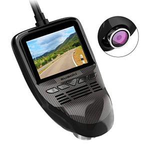SUAOKI WiFi Camera Voiture 4 Voies Grand Vue Mini Caméra de Bord 170° Angle Dashcam Voiture Enregistreur Full HD 1080p Sony IMX323, G Capteur, WDR, Vision Nocturne, Enregistrement en Boucle