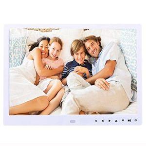 13 Pouces IPS Multi-Fonction HD avec Bouton Tactile Numérique Photo Cadre Électronique Album Publicité Machine Cadeaux d'affaires,White
