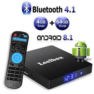Leelbox TV Box Android 8.1【4GB+64GB】 Q4 Max RK3328 Boîtier Smart TV Quad Core 64 Bits, Wi-FI intégré, BT 4.1, TV Box UHD 4K, USB 3.0