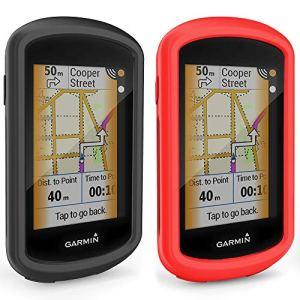 TUSITA Cas pour Garmin Edge GPS Explorer – Housse de Protection en Silicone Peau – écran Tactile Touring Bike Computer Accessoires (2-Pack)