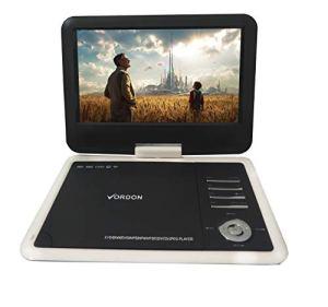 Vordon Lecteur DVD Portable 10,2» avec Batterie 5 Heures Écran Rotatif Support Carte SD USB AV Out/in Joystick