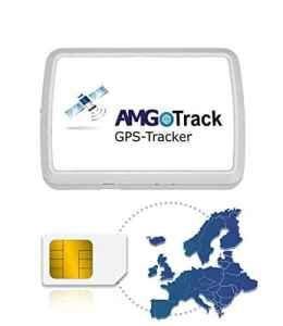 AMG Traceur GPS Longue durée 6 Mois Autonomie de la Carte SIM Europe