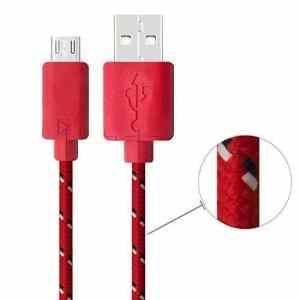 Cdet Micro USB 2M Nylon Câble Alimentation Données Tressé pour Tous Les Téléphones Intelligents et Les Tablettes Utilisant des Connecteurs de Charge Micro USB