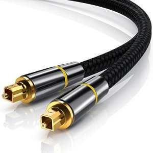 CSL – 1m (mètre) Câble Toslink HQ Platinum (Optique/numérique) | Connecteur Toslink | Fibre Optique | Connecteur HQ en métal avec Contacts plaqués d'or | Home Entertainment/HiFi / Consoles