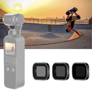 Neewer Filtres ND Magnétiques pour DJI Osmo Pocket Caméra Portable: Multi-Couches ND4 ND8 ND16 avec Boîtier pour Photographie Extérieure (Cadre en Alliage Aluminium Noir)
