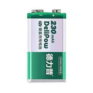 Batterie rechargeable Grande capacité Carré Nickel-hydrogène 9V Batterie 6f22 Multimètre Instrument USB Basse Batterie au Lithium