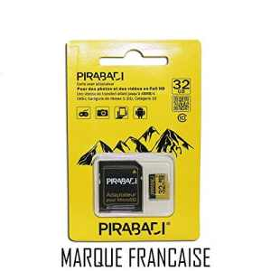 Carte MEMOIRE Micro SD 32GB 32GO 32 GB GO Original   PIRABADI Ultra Extreme Pro   CAPACITE Reel   + Adaptateur   Marque 100% Francaise
