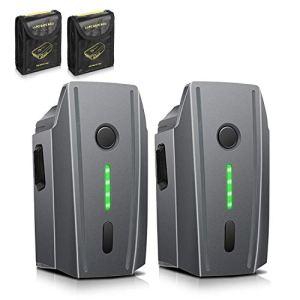 Batterie Mavic Pro, 2-Pack ENEGON 11.4 V 3830mAh Vol Intelligent LiPo Batterie de Rechange+ Sac de Sécurité de la Batterie pour Drones DJI Mavic Pro & Platine & Blanc Alpin (Pas adapté pour Mavic 2)