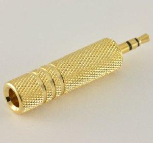 BuyinCoins Convertisseur audio stéréo 6,5 mm femelle vers 3,5 mm mâle