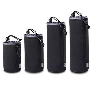 Elviray (Lot de 4 Ensemble de Pochette de Protection en néoprène épais pour OUTAD OUTAD pour objectifs numériques pour Canon pour Nikon pour Pentax pour Sony