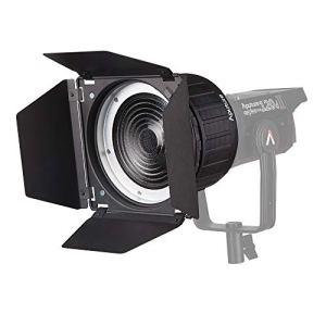 Monture Aputure Fresnel 2X, avec Barndoor filtre, Compatible avec la série COB 120 300D Qui Convient également pour d'Autres éclairages continus montés en série