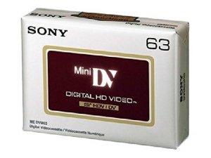 Sony DVM 63hdv–Mini DV–1x 63min. (Quantité = 7)