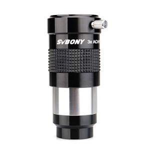 Svbony Barlow 3X 1.25 Barlow Lens Métal Lentille Barlow Apochromatique pour Oculaires de Télescope