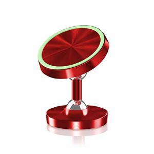 YOUQING Support de téléphone de Voiture 360 ??Rotation Magnetic Metal Luminous