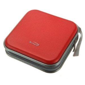CAMTOA Classeur Rangement Boite Pochette Etui Range 40 CD DVD Sac Sacoche Plastique