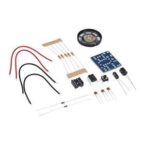 Corneliaa-FR DIY NE555 Oscillator Buzzer Générateur de Sons électronique Kit LED 8R 0.25W Haut-Parleur Matériaux respectueux de l'environnement