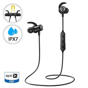 Mpow Ecouteur Bluetooth 5.0,IPX7 Etanche,Audio HD AptX,Ecouteur Bluetooth Magnétique,9 Heures de Lecture,Ecouteur sans Fil Jogging/Course,Ecouteur Bluetooth Sport Intra-auriculaire pour IPhoneAndroid
