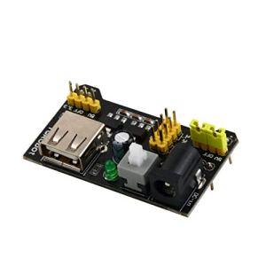 MachinYesell Module d'alimentation pour Planche à Pain MB102 3.3V / 5V Professional pour Panneau de Pain sans Soudure 6.5-12 V (CC) ou Bloc d'alimentation Noir