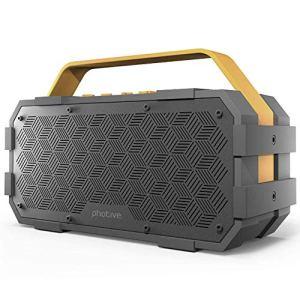 QWERTU Câble de Carte sans Fil Bluetooth Haut-Parleur M90 3 en 1 Subwoofer Portable Extérieur étanche pour la Maison, en Plein air, Voyage