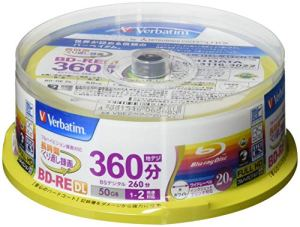 Verbatim Blu-ray Disc 20 Spindle – 50GB 2X BD-RE DL for Video – Wide printable