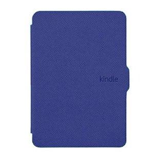 Xuxuou EasyAcc Kindle Paperwhite Housse,Etui Liseuse Kindle Paperwhite Ultra-Mince Etui,Amazon – Étui en Cuir pour Kindle Paperwhite1/2/3 (Bleu foncé)