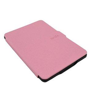 Xuxuou EasyAcc Kindle Paperwhite Housse,Etui Liseuse Kindle Paperwhite Ultra-Mince Etui,Amazon – Étui en Cuir pour Kindle Paperwhite1/2/3 (Rose)