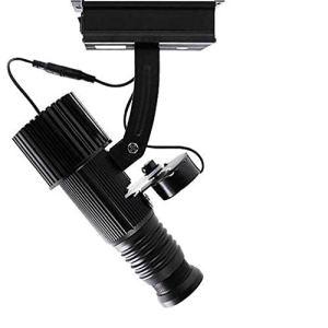 WUZHENG GOBO Projector Light Gobos Logo Lampe de projecteur Compris giration Fonction Libre en Verre sur Mesure GOBO Logo Image Projet,Noir,Indoor