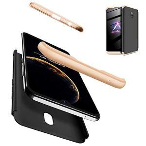 AILZH Housse Compatible pour Coque Xiaomi Redmi 8A Coque Rigide Hard Shell Housse Protection Totale Antichoc Pare-Chocs Bumper Anti-Rayures Cover Case Matte(Or Noir)