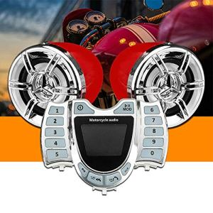 Alicer Haut-Parleur de Moto étanche Lecteur MP3, Radio FM écran LCD Horloge Haut-Parleur Accessoire de Moto, N° 0, comme sur l'image, acryl