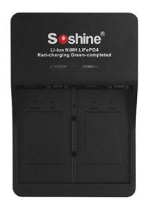 Chargeur de Batterie 6F229/650li, li-ion NiMH LiFePO4de Soshine, Cargador suelto, 1