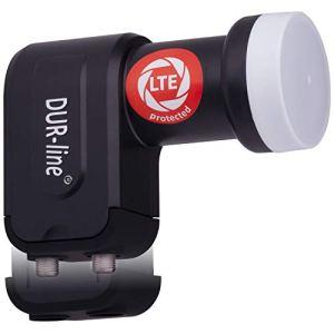 DuraSec Premium Line + Ultra–LNB + avec Filtre LTE + [Full HD, HDTV, 3D, LTE/UMTS/GSM/DECT Filtre]–dur Line Produit de qualité