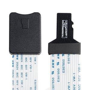 Eatech 60 cm TF Mâle à Micro SD Carte Mémoire Flexible Flex Extension Extender Cordon Câble Adaptateur Lecteur pour Voiture GPS Smart Mobile Téléphone