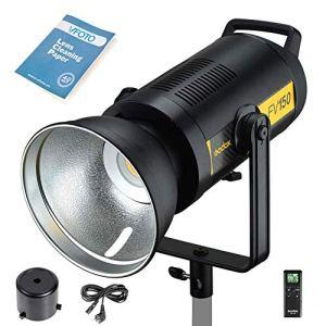 Godox FV150 150W Flash LED Lampe, 1/8000 HSS Studio Stroboscopie Flash avec LED Vidéo éclairage Continue, 2.4G X Wireless sans Fil pour Canon Nikon Sony Fuji Olympus Panasonic Caméra (FV150)