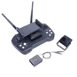 HLW Sports Emetteur récepteur 2.4GHz 12CH Intergrated contrôle vidéo et Telemtry système Range émetteur avec R12 récepteur et Appareil Photo for RC Drone (Couleur : Noir, Taille : Taille Unique)