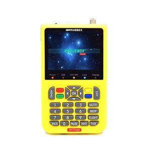 IBRAVEBOX V8 Finder – Indicateur de Recherche de Signal Satellite numérique, écran Couleur LCD de 3,5 Pouces, Compatible DVB & Live FTA (Jaune) (Couleur : Jaune)