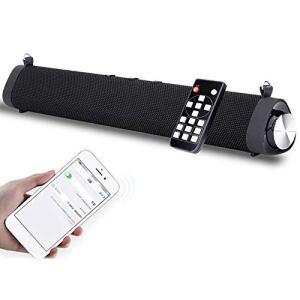Jacksking Barre de Son Bluetooth, Mini-Barre de Son Bluetooth Portable pour Bureau extérieur