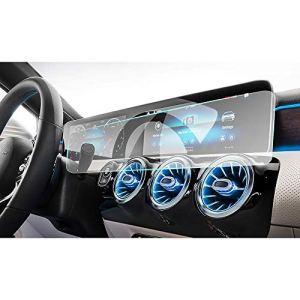 JXSMFXP écran de Navigation en Film Protecteur Plein écran de 10,25 Pouces, Protecteur en Verre trempé 9H.pour Mercedes Benz Classe A W177 / V177