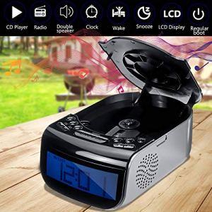 Lecteur CD, Alarme LCD Horloge numérique 110V / 220V Contrôle du Volume réglable Luminosité Deux Haut-parleurs Tuning Radio AM/FM CD Lecteur de Musique