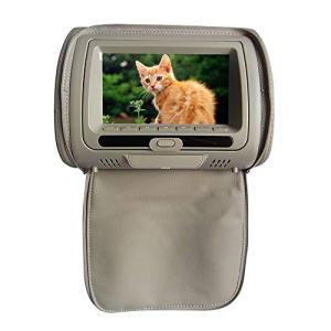 Lecteur de DVD, écran 7 Pouces, écran Infrarouge pour appuie-tête de Voiture, Lecteur DVD pour appuie-tête de Voiture, Fermeture Éclair, Support IR/USB/SD/Haut-Parleur/Jeu/FM, N° 0, Beige, Free Size